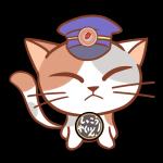 ご乗車ぁ~誠にありがとうございまぁ~す!猫の駅長さんのフリーイラスト