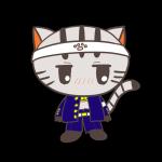 なめんなニャン♪学ランを着た猫のフリーイラスト