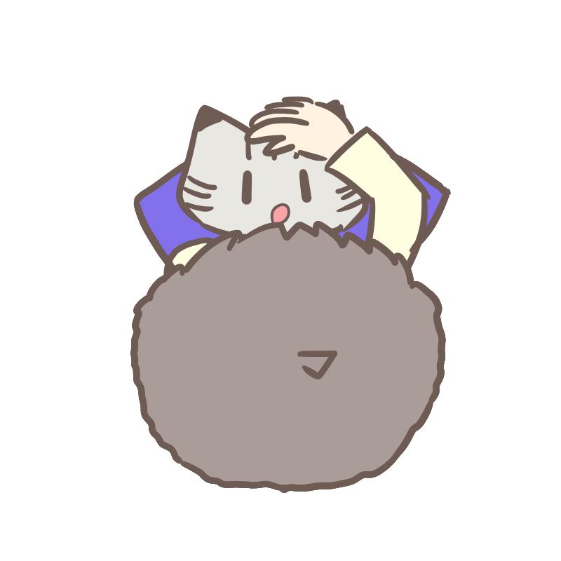 甘える猫のイラスト